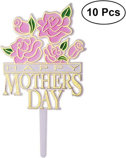 Pink SPARKLE Mum Your The Best CARD MAKING TOPPERS Handmade Stick On Decorations