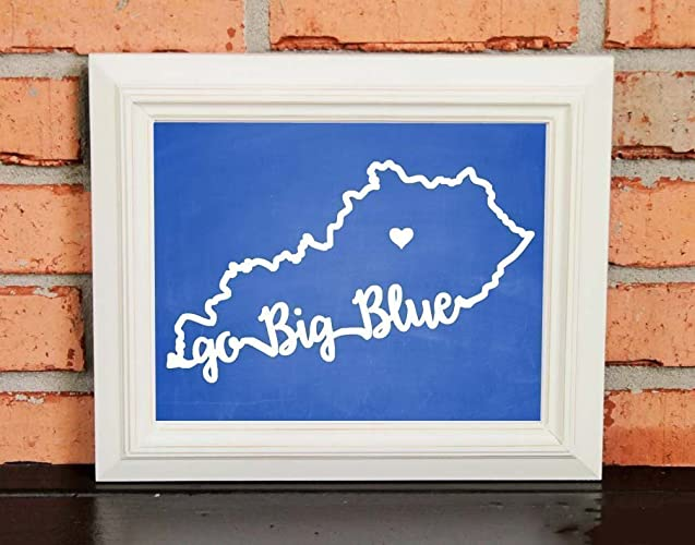 photograph relating to Printable Uk Basketball Schedule named : Move Massive BLUE! Higher education Pleasure Wall Artwork - Kentucky
