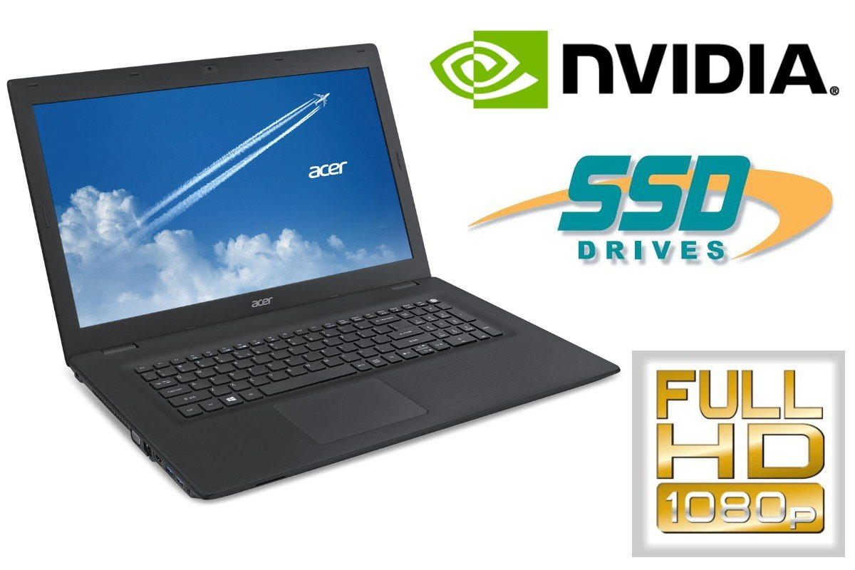 Ordenador Portatil Acer TM p277-m – 128 GB SSD + 500 GB HDD ...
