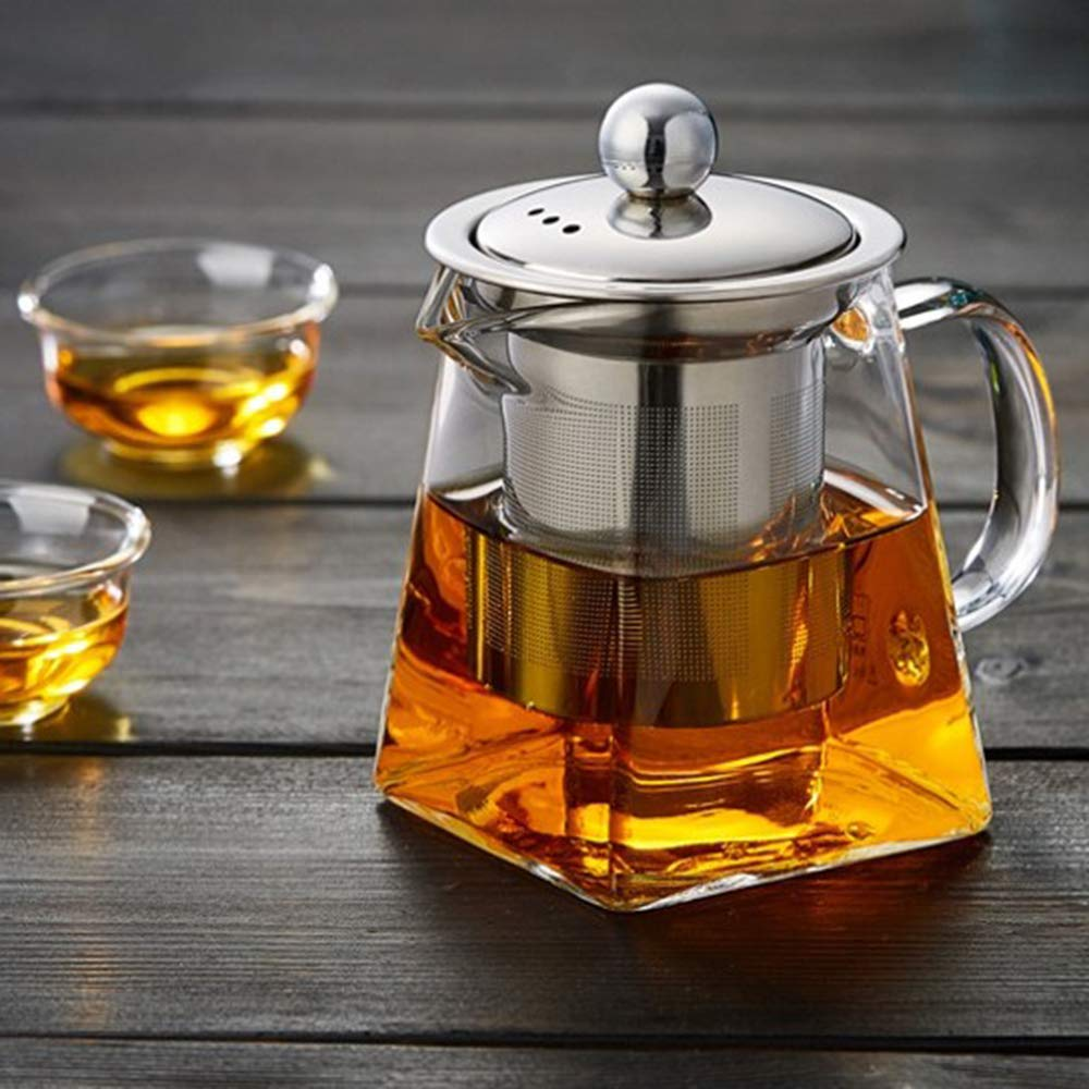 Amazon.com | 350 ml Glass Teapot with Removable Infuser ...