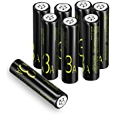 Batterie Ricaricabili,Coolreall Pile Ricaricabili AAA Ni-MH (1100mAh,1,2V Confezione da 8 Pezzi)