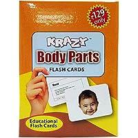 Body Parts Mini krazy Flash Cards