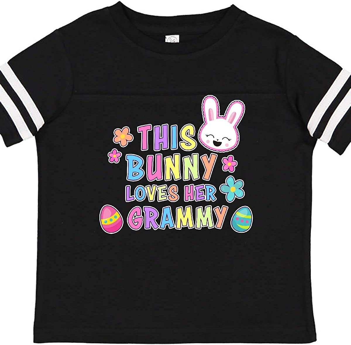 inktastic This Bunny Loves Her Grammy with Bunny Face and Toddler T-Shirt