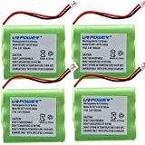 URPOWER® 4 Pack 800mAh Cordless Phone Battery Replacement for AT&T 3300 3301 Vtech 8050710000 80-5071-00-00 Motorola MD-7081 MD-7091MD-481SYS