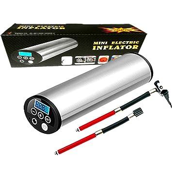 Suplor Mini aire inflator150psi, portátil compresor de aire, bomba de mano con pantalla LCD Digital, batería de ion de litio 12 V: Amazon.es: Deportes y ...