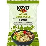 Koyo Ramen Soup, Asian Vegetable, Made With Organic Noodles, No MSG, No Preservatives, Vegan, 2.1 Ounces Per Package