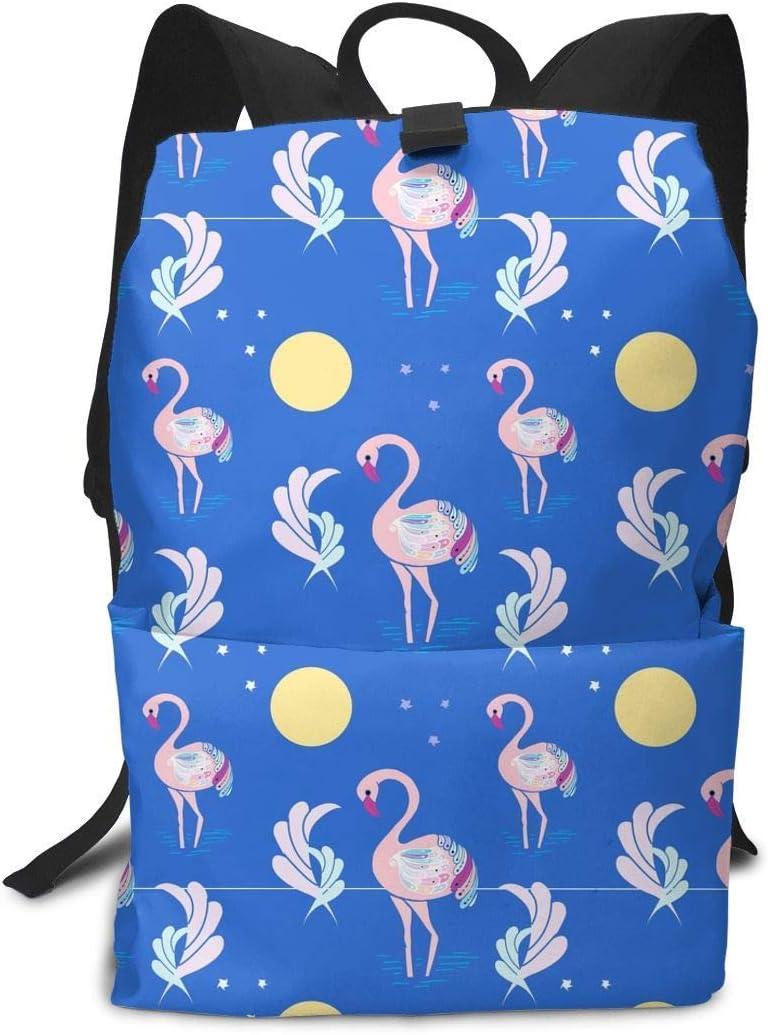 Homebe Blue Pink Flamingo Moon Mochila Unisex, Mochilas y ...