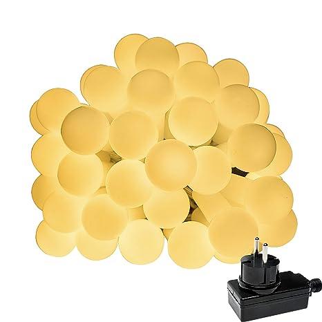Luces Led Cálidas con Bombillas Impermeables para Decorar Exteriores 10M 100LED, Terrazas Chill Out,