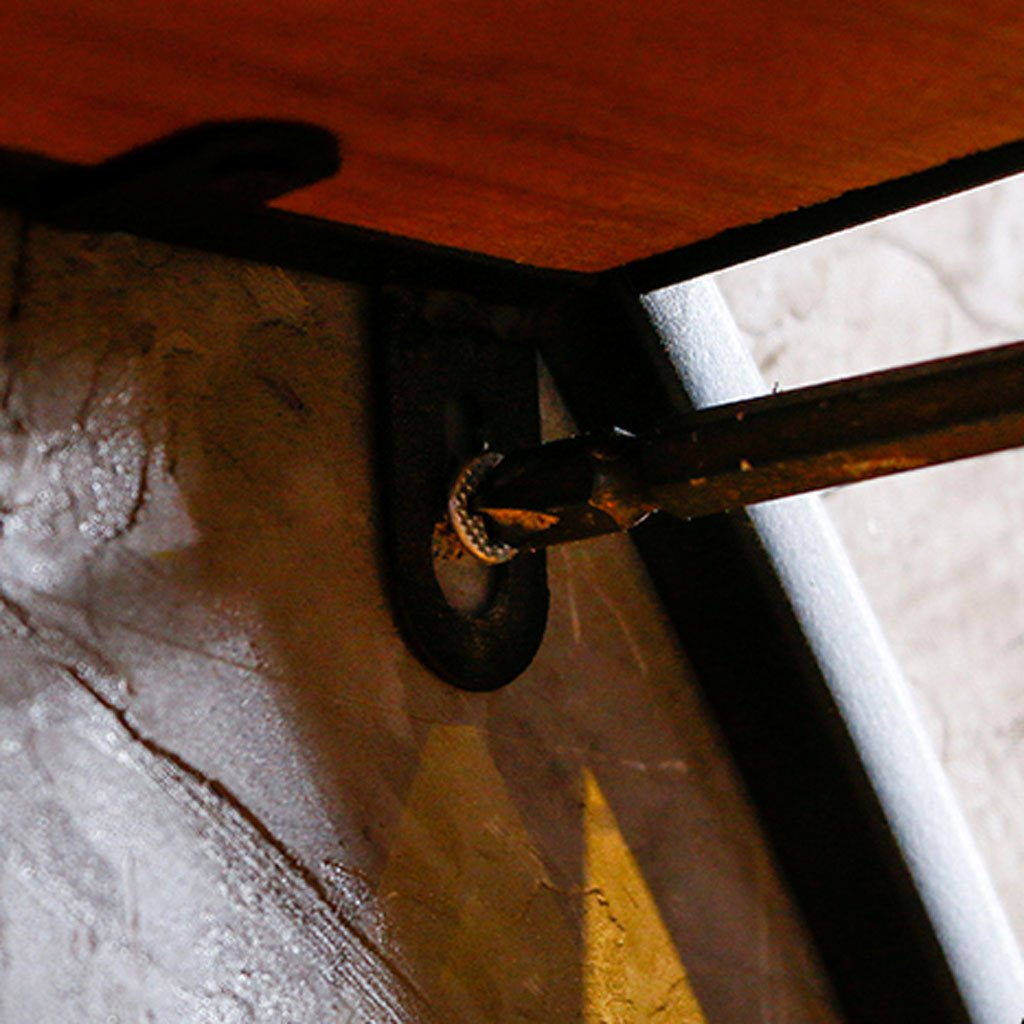Jia He Estante Circular Creativo Estante de Pared Loft Industria Retro Arte de Hierro Pared de Visualización de Pared de Madera Sólida Decoración de La ...