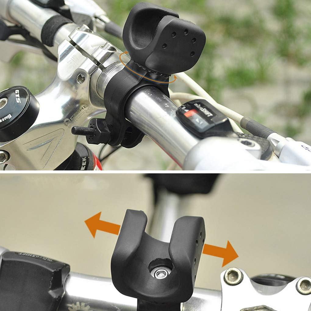 Qinghengyong Mountainbike Rennrad vorne Lenker Taschenlampe Halter Fahrradlicht Halter Halterung Fahrrad-Licht-Standplatz 360 Grad Drehung Halter