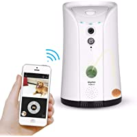 SKYMEE Dog Camera Treat Dispenser, WiFi Remote Pet Camera with Two-Way Audio and Night Vision, Compatible with Alexa