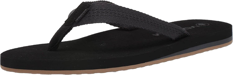 Volcom Men's Daycation Textile Flip Flop Sandal: Shoes