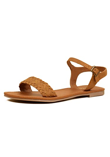 a9989a6bac4 SODA Shoes Women s Jazzy Casual Braided Flat Sandals