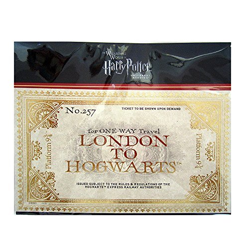 Wizarding World of Harry Potter Hogwarts London Express Replica Train 2 Pc. Ticket Set (Harry Potter Hogwarts School)