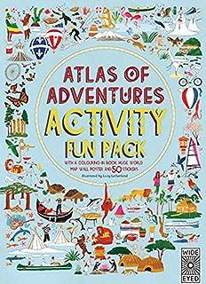 Maps activity book aleksandra mizielinska daniel mizielinski atlas of adventures activity fun pack with a coloring in book huge world gumiabroncs Image collections