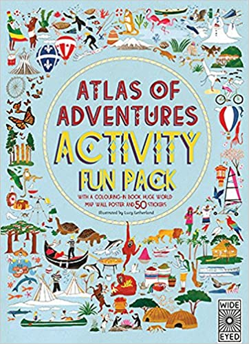 Atlas of adventures activity fun pack with a coloring in book huge atlas of adventures activity fun pack with a coloring in book huge world map wall poster and 50 stickers lucy letherland 9781847807335 amazon gumiabroncs Gallery