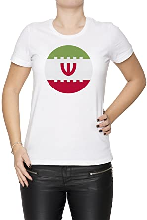 951f4095c Iran National Flag Women s T-shirt Crew Neck White Tee Short Sleeves Small  Size S