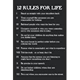 12 Rules For Life Jordan Peterson Notebook: - 110 Pages, In Lines, 6 x 9 Inches