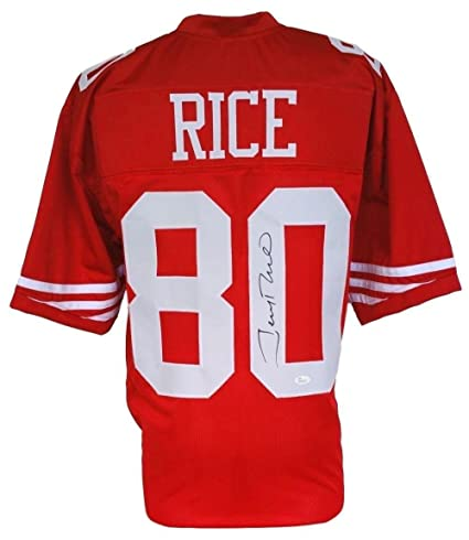 Autographed Sports Store Certified Custom Amazon's Collectibles Jsa 130565 Nfl Jersey At Jerseys Jerry - Rice