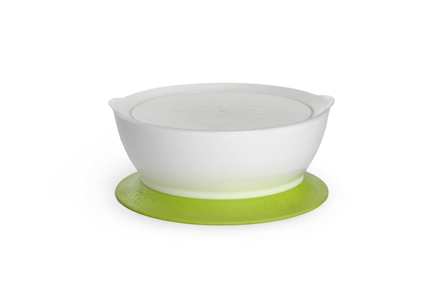 CaliBowl 1-1/2 Cup Suction Bowl And Lid, Green CALIKSG