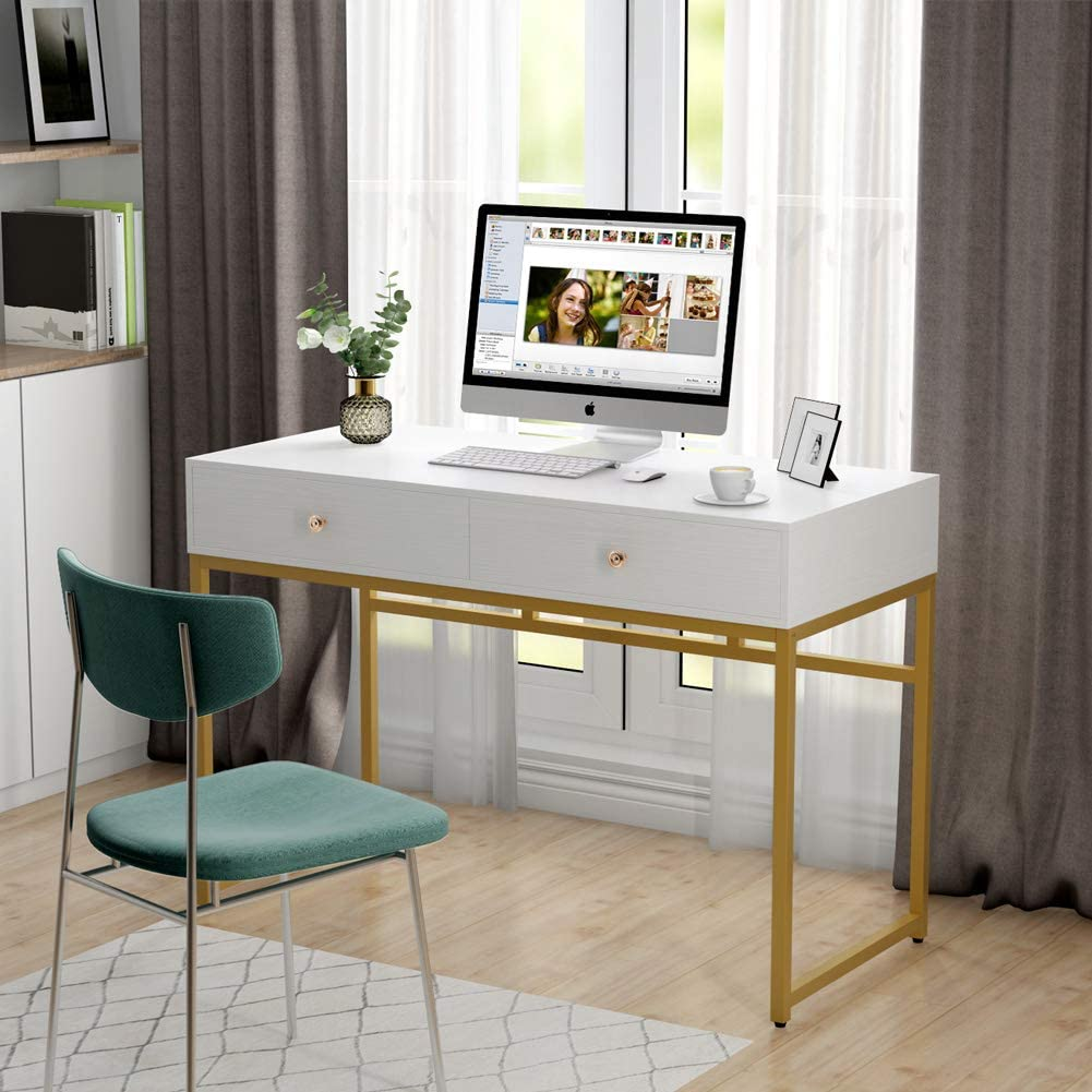 Modern Simple 47 Home Office Desk Study Table Writing Desk Makeup Vanity Table Ebay