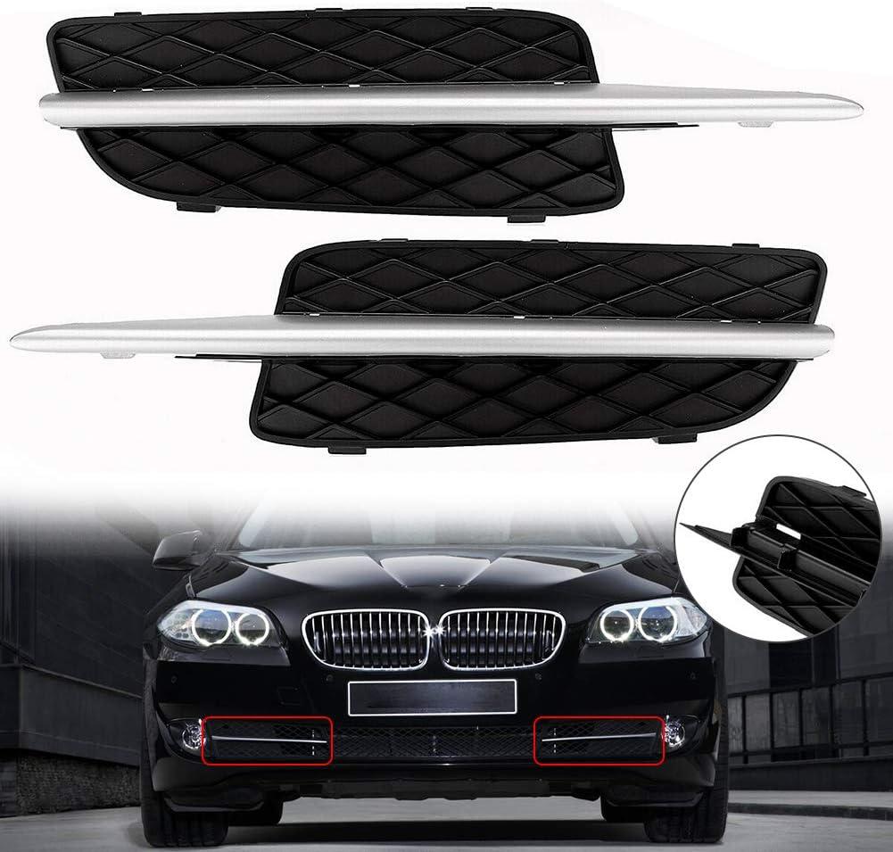 Semine Auto Frontsto/ßstange untere K/ühlergrillabdeckung W Chrome Trim f/ür BMW X5 E70 X6 E71 2007-10