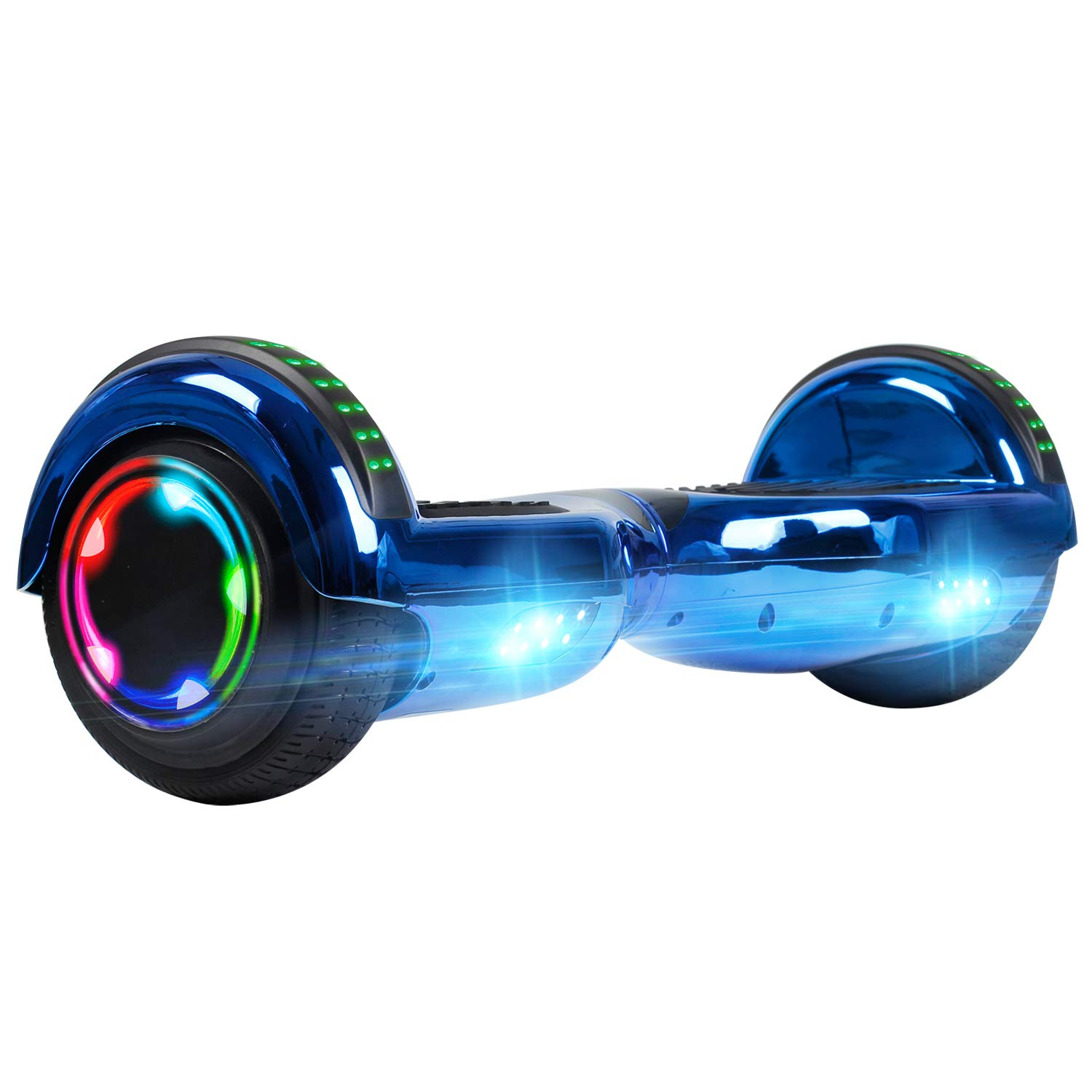 UNI-SUN Chrome Hoverboard for Kids, 6.5 Two Wheel Electric Scooter, Self Balancing Hoverboard with Bluetooth and LED Lights for Adults, UL 2272 Certified Hover Board