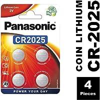 Panasonic - Pila de botón de Litio CR2025 4 Unidades