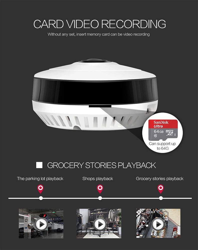 Balscw-J WiFi Hidden Spy cámara Detector de Humo, HD 1080P Nanny CAM detección de Movimiento inalámbrico Mini grabadora de vídeo para la Seguridad del ...