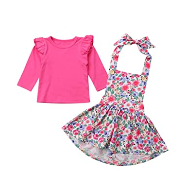 d1c2e37bb9f Amazon.com  Infant Baby Girls Floral Skirt Outfit