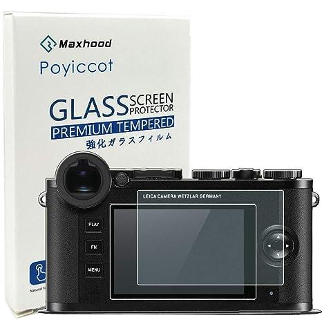 Poyiccott - Protector de Pantalla de Cristal Templado para cámara ...
