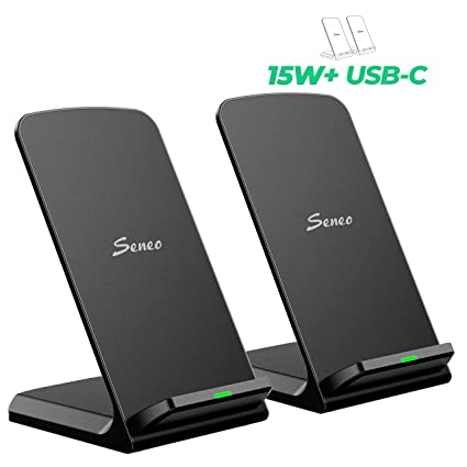 15W Wireless Charger, Seneo [2 Pack] Dual 7.5W Qi iPhone Wireless Charger for iPhone 11/11 Pro MAX/XR/XS/XS MAX/X/8/8P, 10W for Galaxy ...