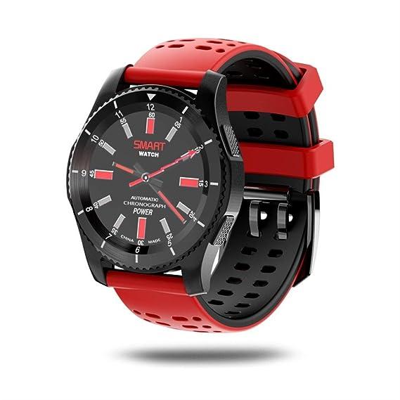 Pulsera Inteligente, Malloom GS8 Impermeable GPS Smart Watch presión Arterial Ritmo cardíaco Reloj para Android y iOS (Rojo)
