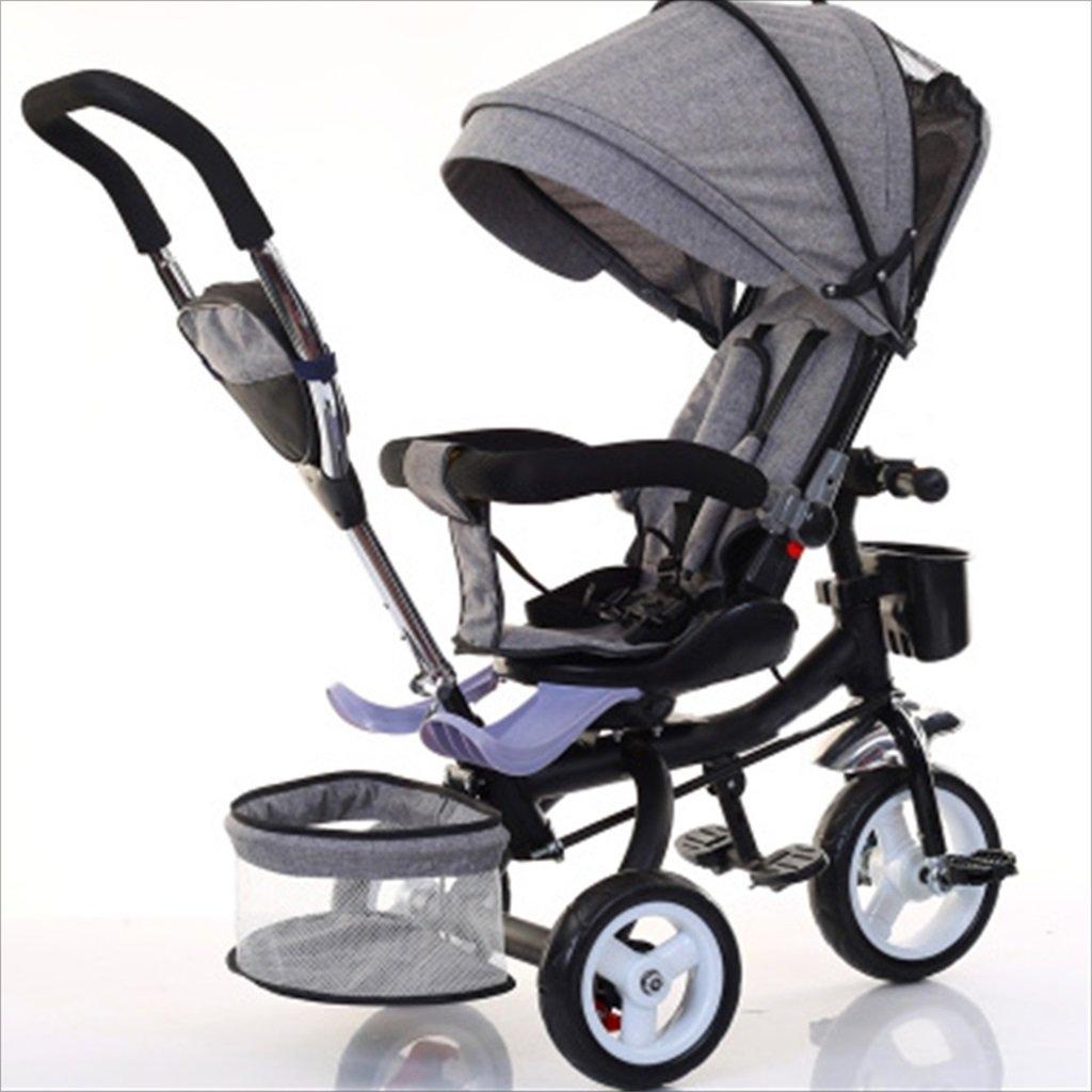 子供の屋内屋外の小さな三輪車自転車の男の子の自転車の自転車6ヶ月-5歳の赤ちゃんの3つのホイールトロリー、ダンピング/回転シート/発泡ホイール (色 : 2) B07DVGBZZW 2 2
