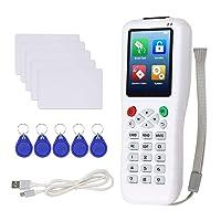 OBO HANDS Full Decode RFID Copier NFC Card Reader Writer Duplicator Cloner 125KHz 13.56 RFID Key fob Programmer with 10pcs T5577 UID Rewritable Key Cards Support USB