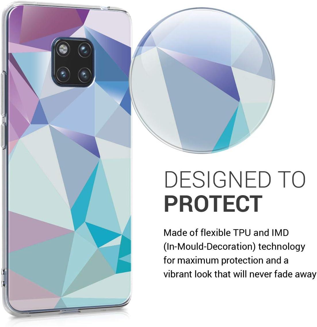 Coque pour Huawei Mate 20 Pro Housse de t/él/éphone en Silicone Or Rose-Transparent kwmobile Coque Huawei Mate 20 Pro
