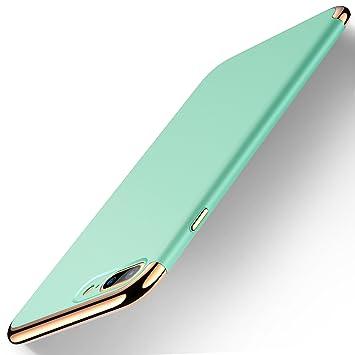 humixx Funda iPhone 7 Plus, Lujoso Electroplate Cubierta Textura del Metal, Ultra Slim Protección Completa Prueba de Choques Funda de Plástico Duro Cover ...