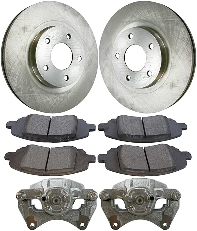 Auto Shack SCD9244735 Front and Rear Brake Rotors and Ceramic Pads