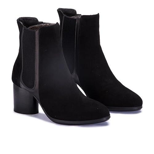 Homers 18371 Silvia Ante Negro - Botines Mujer - Negro, Ante Negro, 39: Amazon.es: Zapatos y complementos