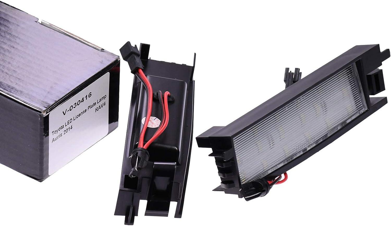 VINSTAR LED Kennzeichenbeleuchtung E-gepr/üft CAN-Bus 18 LEDs je Modul 6000 Kelvin kompatibel mit Toyota Auris ab 2012