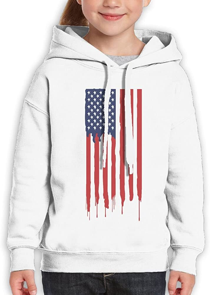 DTMN7 America Flag Graphic Printed Crew Neck Sweatshirt For Teen Girl Spring Autumn Winter
