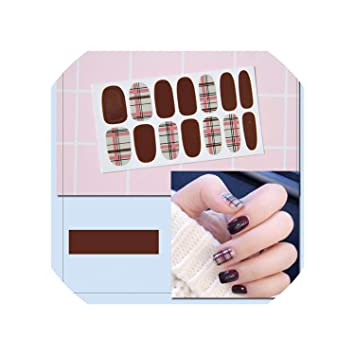 16 Tips/Sheet Manicure Diy Nail Polish Strips Wraps ... - Amazon.com