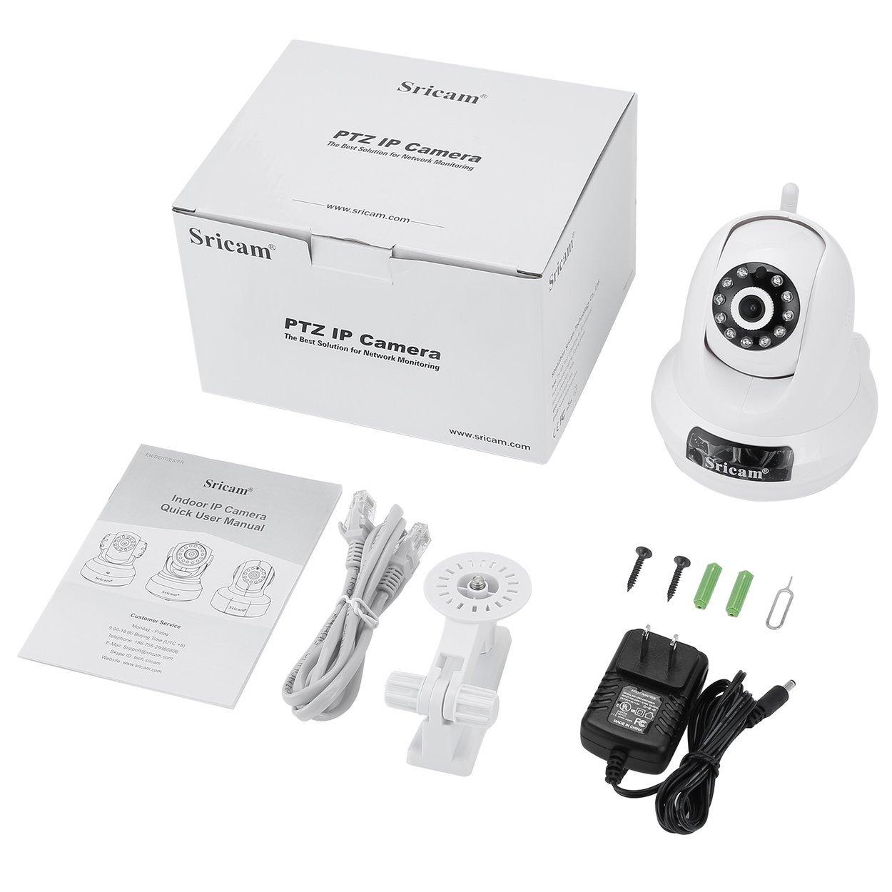 Sricam PTZ IP Camera 1080P HD Pan 355° Tilt 90° Wireless