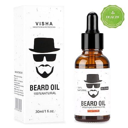 Aceite Para Barba, Aiemok 30ml Aceite de Barba Orgánico, Barba Nutritiva y Estilizadora Cuidado de la Barba, 100% Natural Aceite para Barba Cuidado ...
