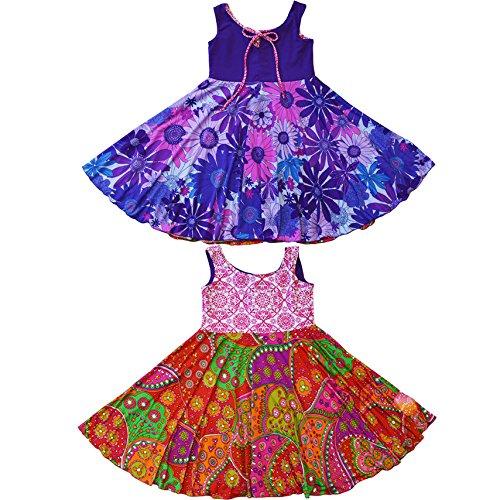 Twirly Girl Circle Skirt Dress Girls Reversible Flip Spin Purple Pink USA Made by TwirlyGirl