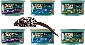 Fancy Feast Medleys Complete Cat Food 3 Flavor Variety 6 Can with Toy Bundle, 2 Each: Ocean Whitefish Tuna Florentine, Tuna Primavera, Tender Turkey Primavera (3 Ounces)