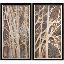 Uttermost 41543 Twigs Hand Painted Art (Set of 2)