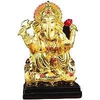 NYDZ Resina Ganesh Statue Indù Buddha Elefante Dio Scultura Intagliato a Mano Resina Figurina Fatta a Mano Decorazione da Tavolo Ornamento, 3.9x3.5x6.7in applicabile