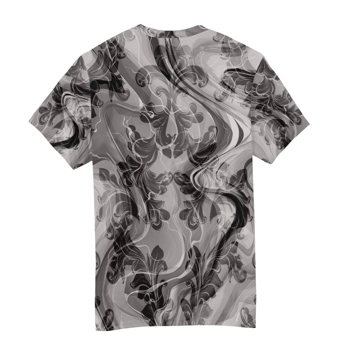 Horatiood Huberyyd Marble Pattern of Flowers Mens T Shirts Graphic Funny Body Print Short T-Shirt Unisex Pullover Blouse