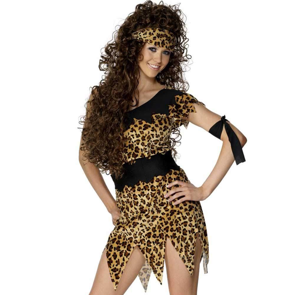 Smiffys - Disfraz de mujer de las cavernas para mujer, talla XL (28600X1)
